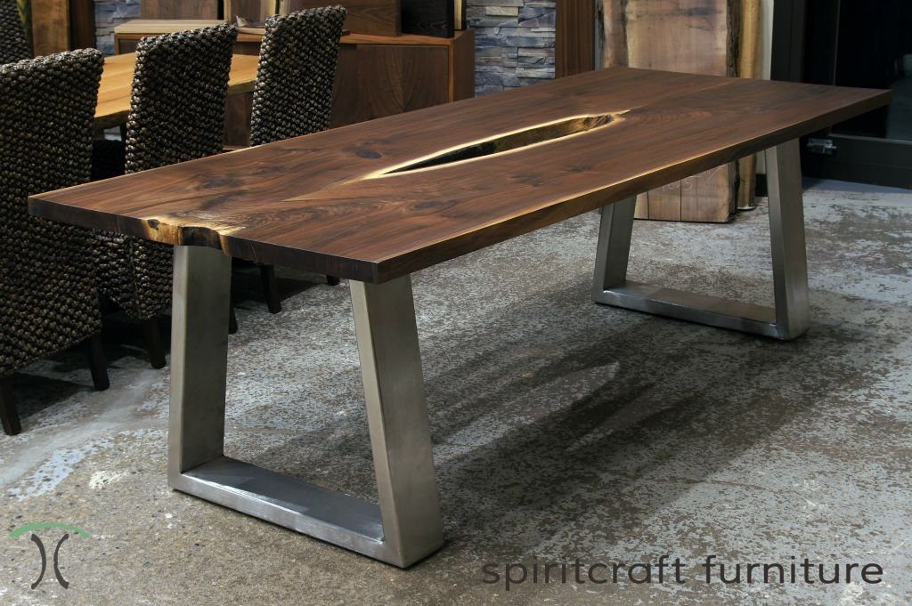 Live Edge Slab Dining Conference Table Top Bar Height Table Legs Decor