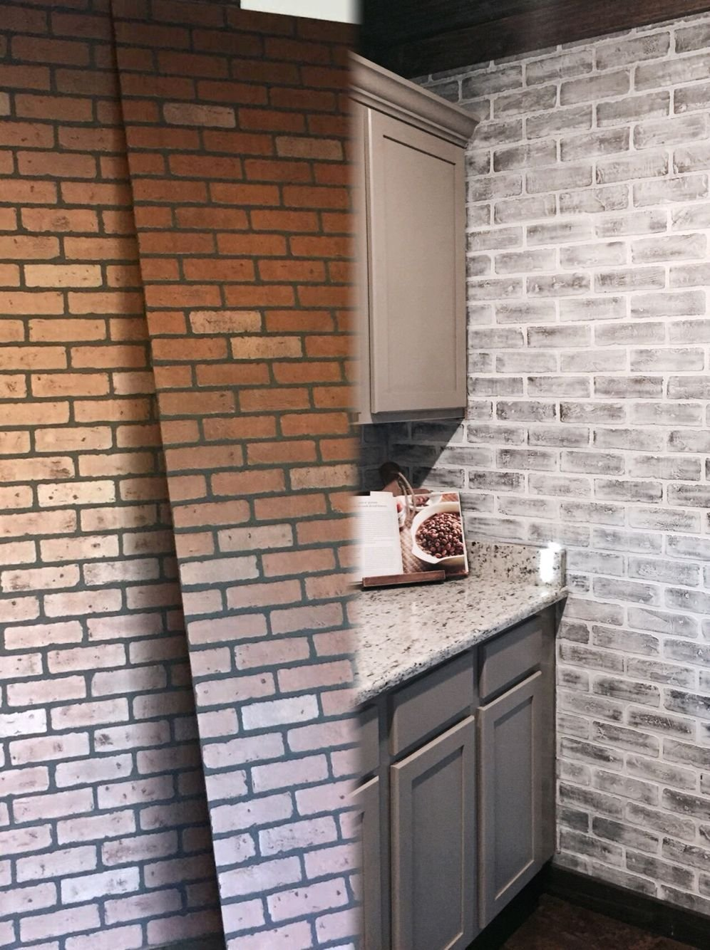 Lowe Brick Panel Painted White Brick Faux Brick Flooring Finish