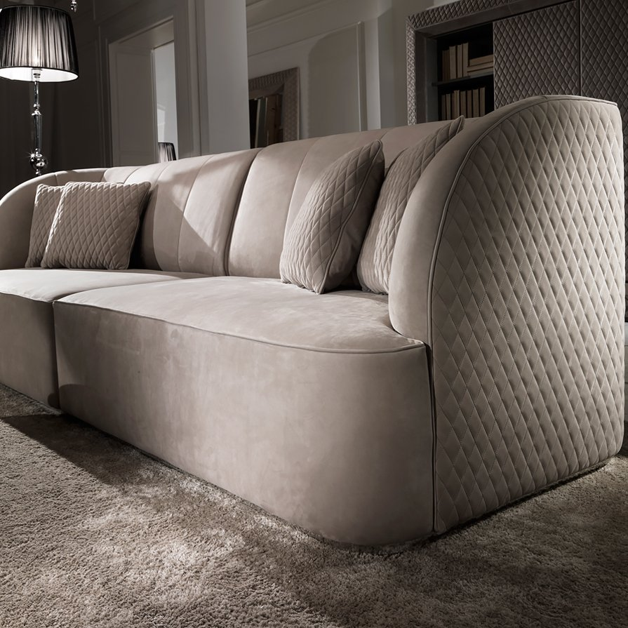 Luxury Sofa Exclusive High Designer Sofa Suede Couch Home