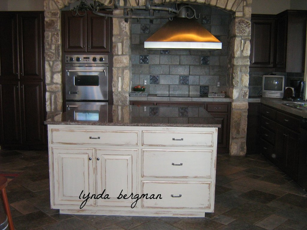 Lynda Bergman Decorative Artisan White Kitchen Cabinet How To Paint Distressed Kitchen Cabinets