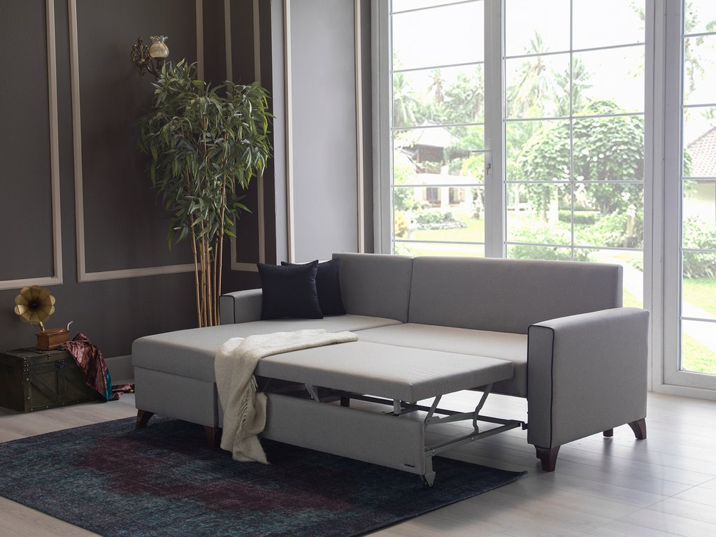Lyon Oyem Gray Sectional Sofa Bed Istikbal Sunset Design Convertible Sectional Sofa Bed