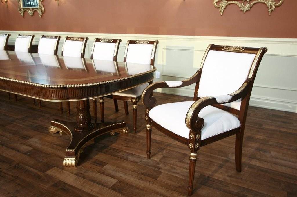 Mahogany Dining Chair Muslin Fabric Glazed Finish 2 How To Repair Rattan Dining Chairs