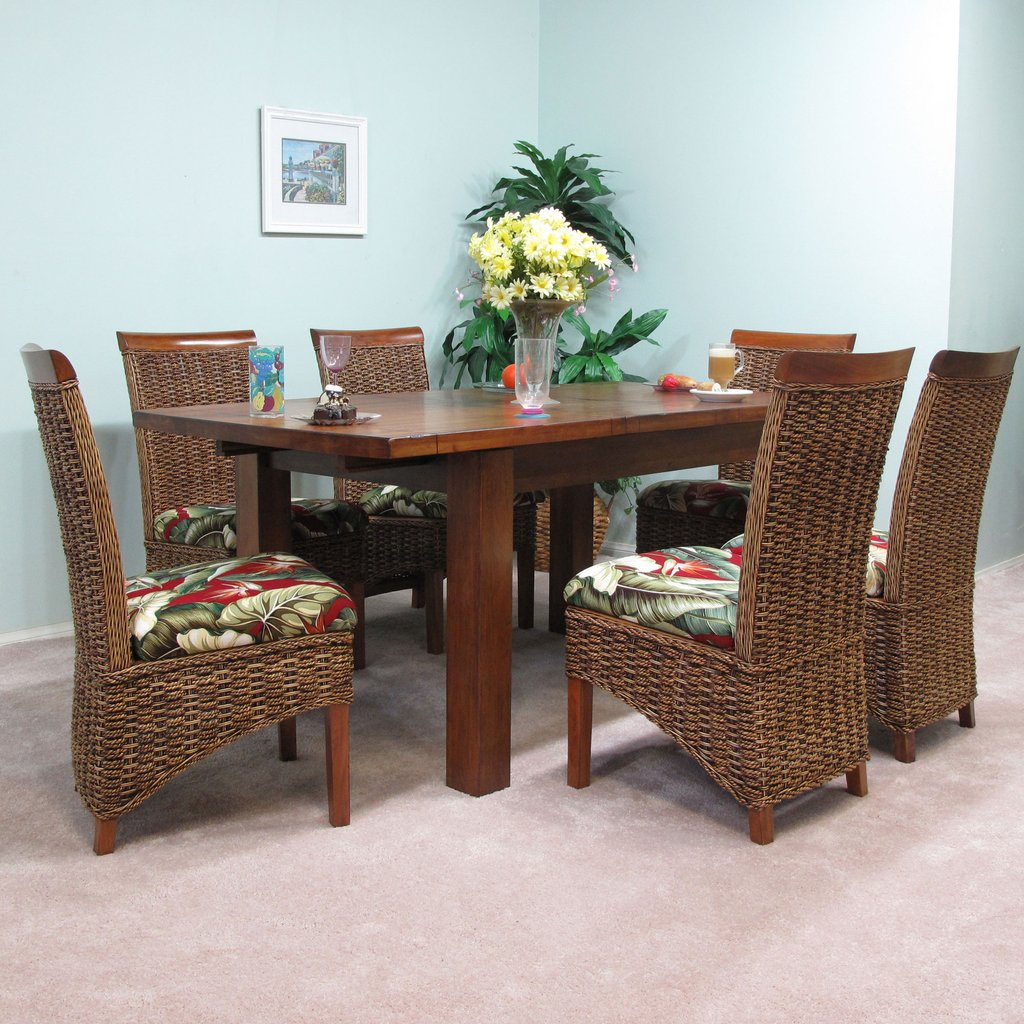 Mahogany Extension Table Banana Leaf Dining Chair How To Repair Rattan Dining Chairs