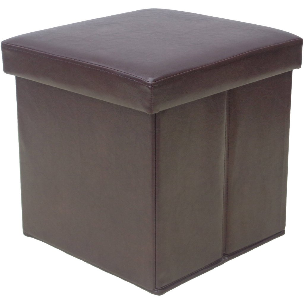 Mainstay Collapsible Storage Ottoman Dark Brown Storage Decorate A Leather Ottoman Coffee Table