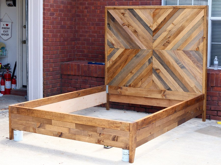 Making Queen Wood Bed Frame Indoor Outdoor Decor Making Wooden Queen Bed Frame
