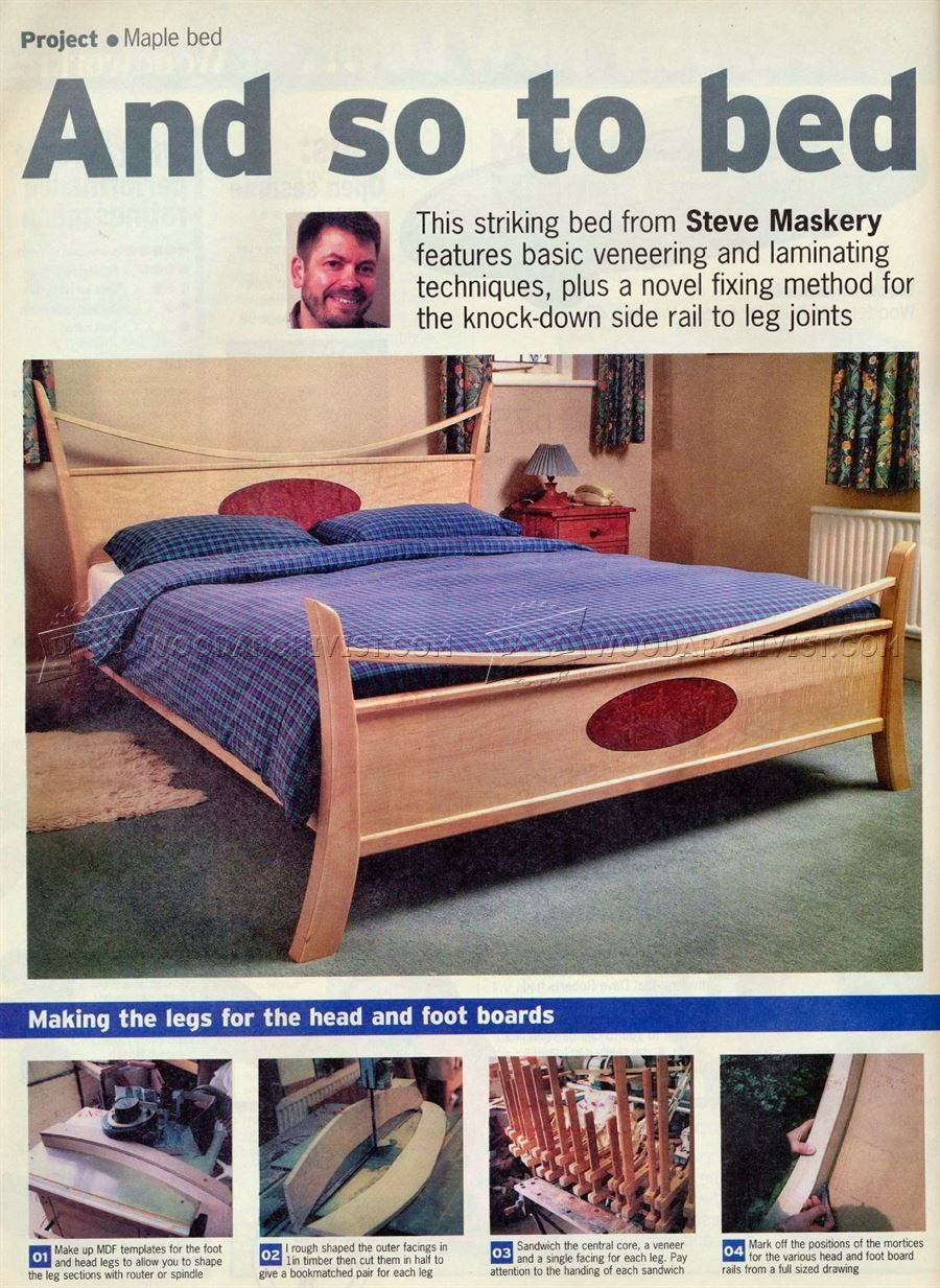 Maple Bed Plan Woodarchivist How To Build A Wood Twin Bed Frame