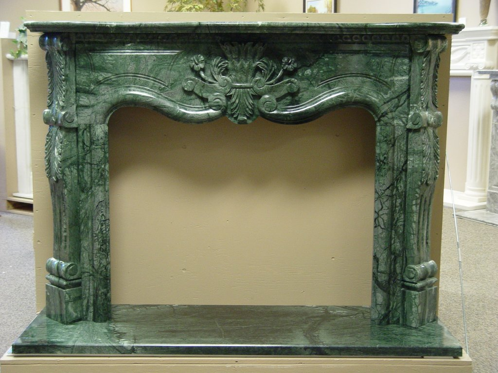 Marble Fireplace Mantel Surround Traditional Style Carrara Marble Tile White Color