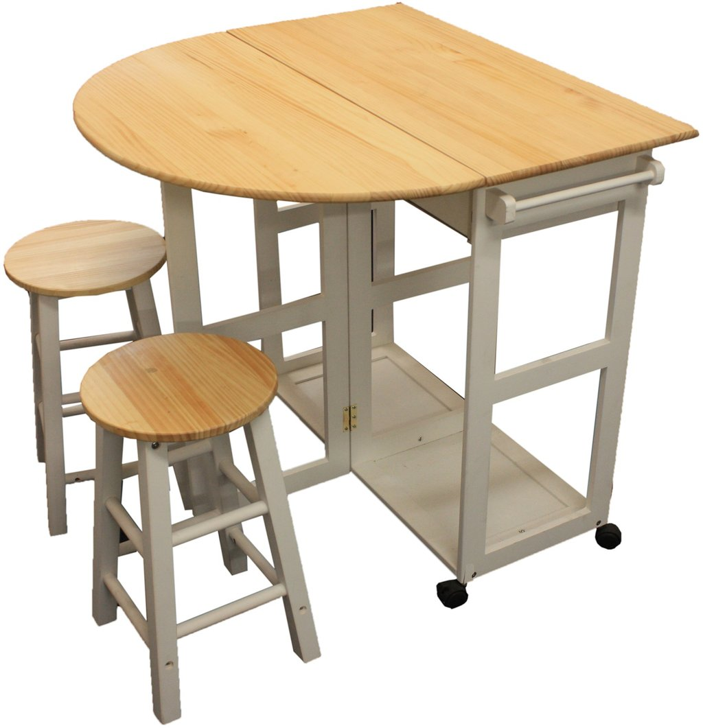 Maribelle Folding Table Stool Set Kitchen Breakfast Making An Drop Leaf Kitchen Table