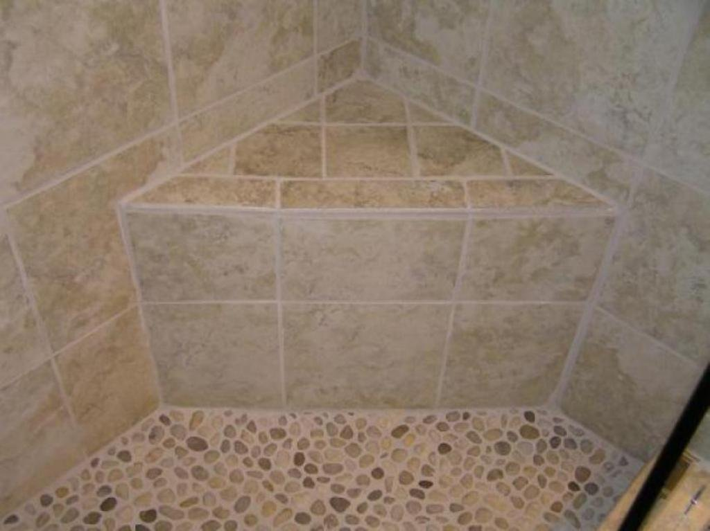 Marvelou Tip Install Corner Shower Stall Seat Installation Of Pebble Tile