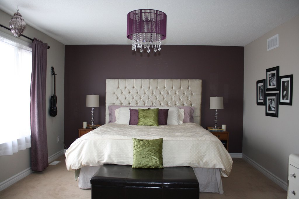 Master Bedroom Makeover King Sized Diamond How To Build A Tufted Headboard