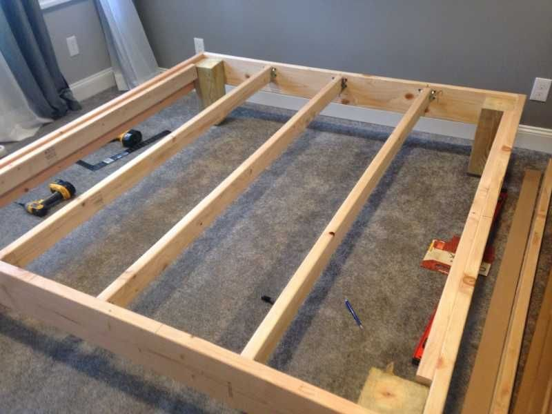 Mattress Underground King Sized Deck Diy Bed Frame How To Build A Wood Twin Bed Frame