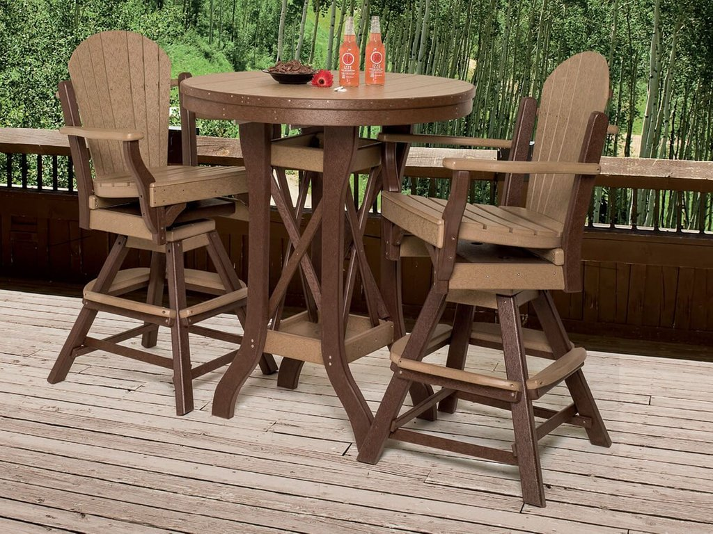Maui Outdoor Swivel Bar Chair Countryside Amish Furniture Bar Height Folding Table Design