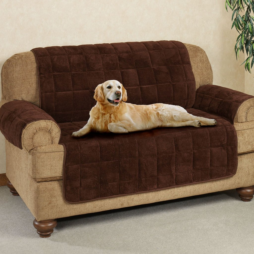 Microplush Pet Furniture Cover Longer Flap Leather Sofa And Loveseat Covers