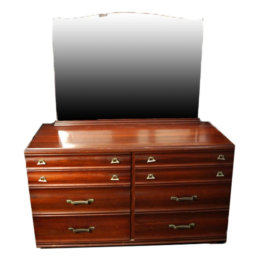 Mid Century Modern Kling Cherry Wood Dresser Mirror Create Dressing Table With Mirrored Dresser