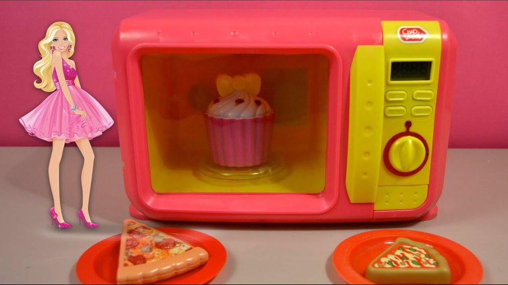 Mini Microwave Oven Kitchen Toy Set Barbie Ken Wooden Kitchen Playsets For Childhood Education