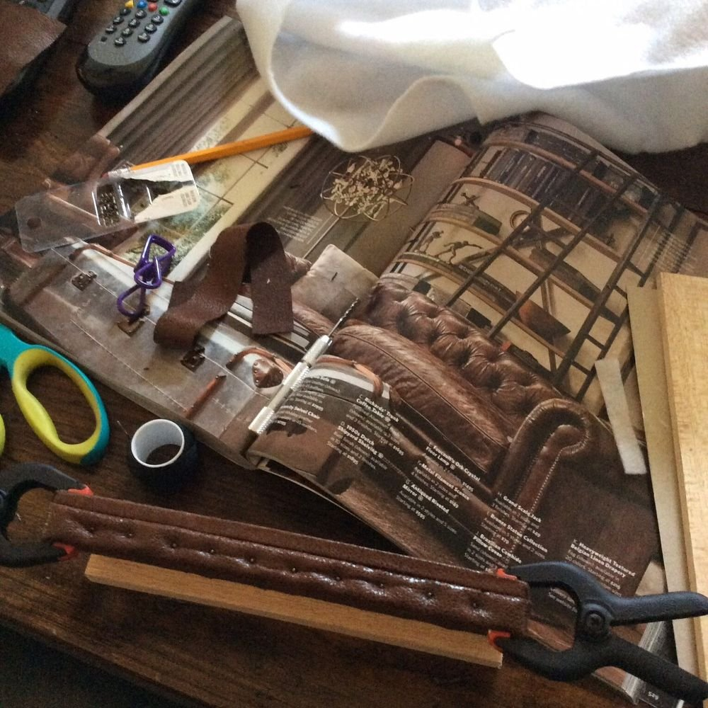 Miniature Dollhouse Leather Couch Tutorial Hometalk How To Build A Wood Twin Bed Frame