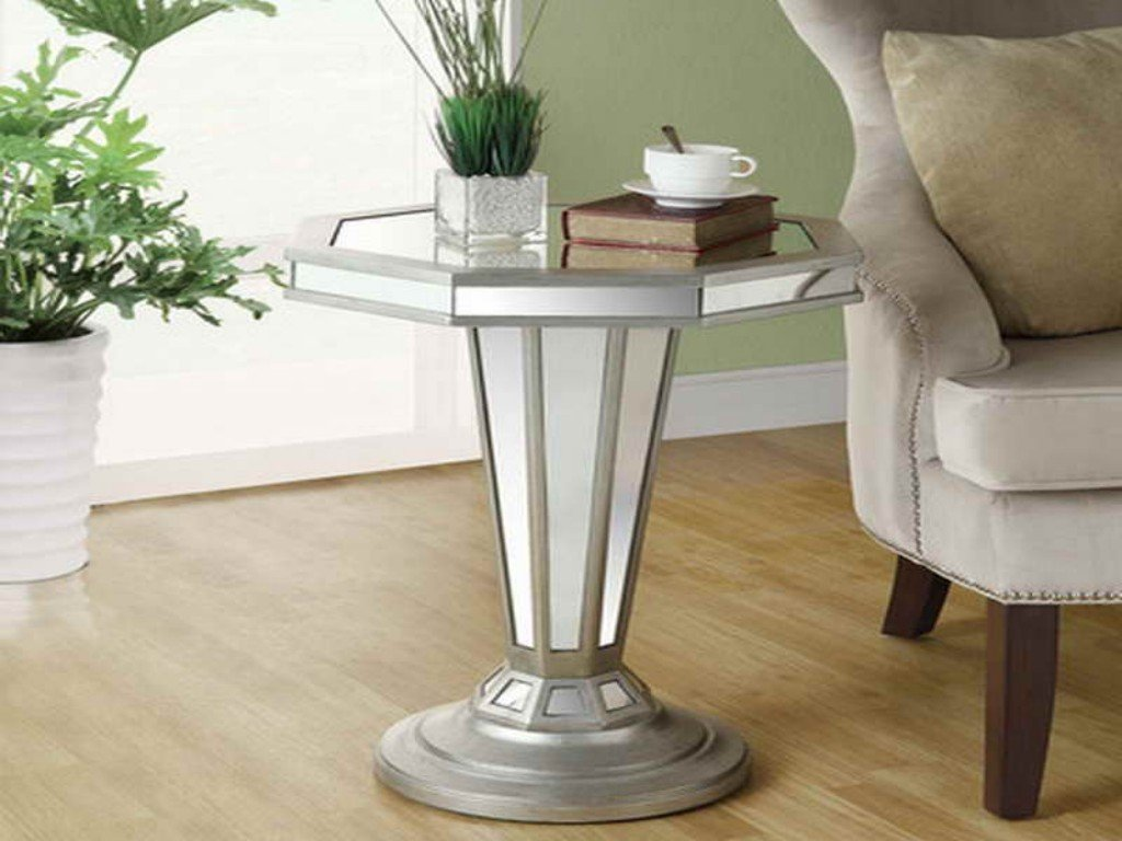 Mirrored Accent Table Design Southbaynorton Mirrored End Table Ideas Decor