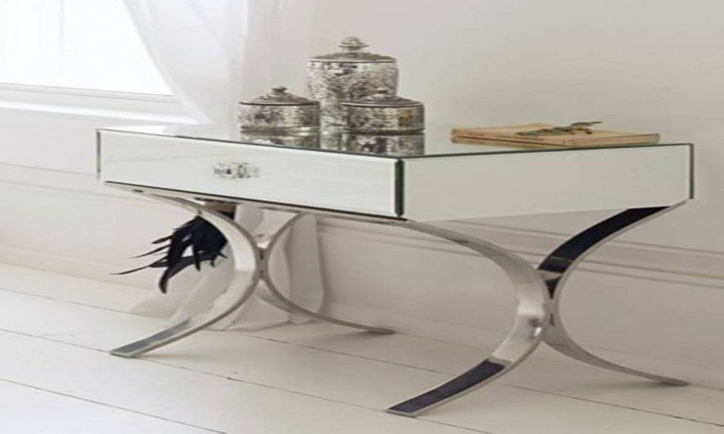 Mirrored Side Table Drawers Mirrored Console Table Mirrored End Table Ideas Decor