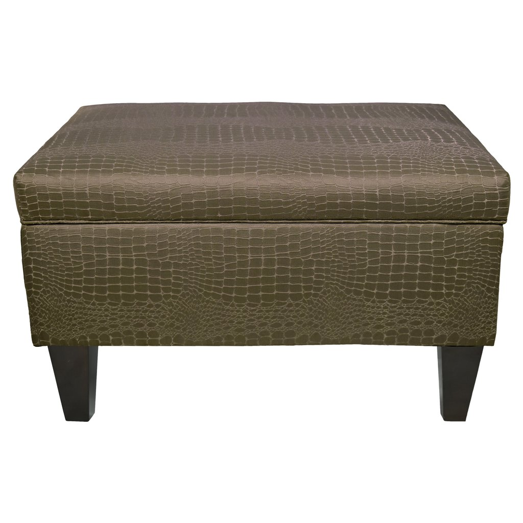 Mjlfurniture Brooklyn Upholstered Tillie Square Legged Box Decorate A Leather Ottoman Coffee Table