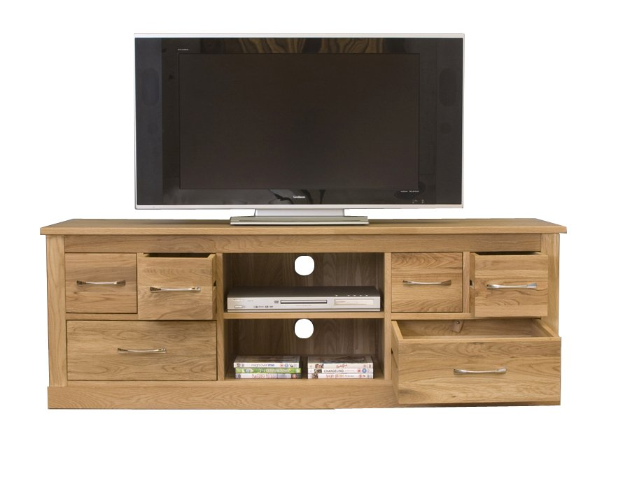 Mobel Oak Widescreen Television Cabinet Living Room How To Repair Rattan Dining Chairs