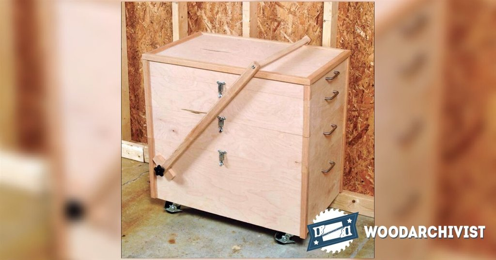 Mobile Tool Chest Plan Woodarchivist Design Rolling Tool Cabinet