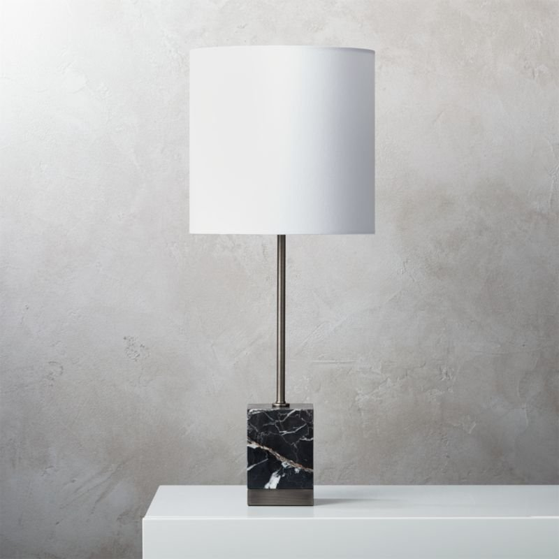 Modern Black Table Lamp Cb2 How To Refinish Marble Table Tops