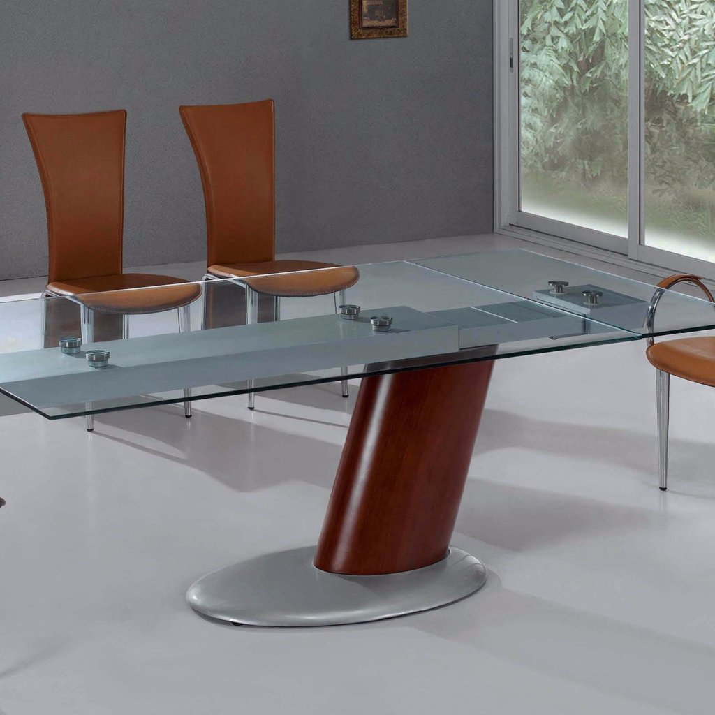 Modern Brown Extendable Rectangle Wood Dining Room Set Extendable Dining Table Ideas