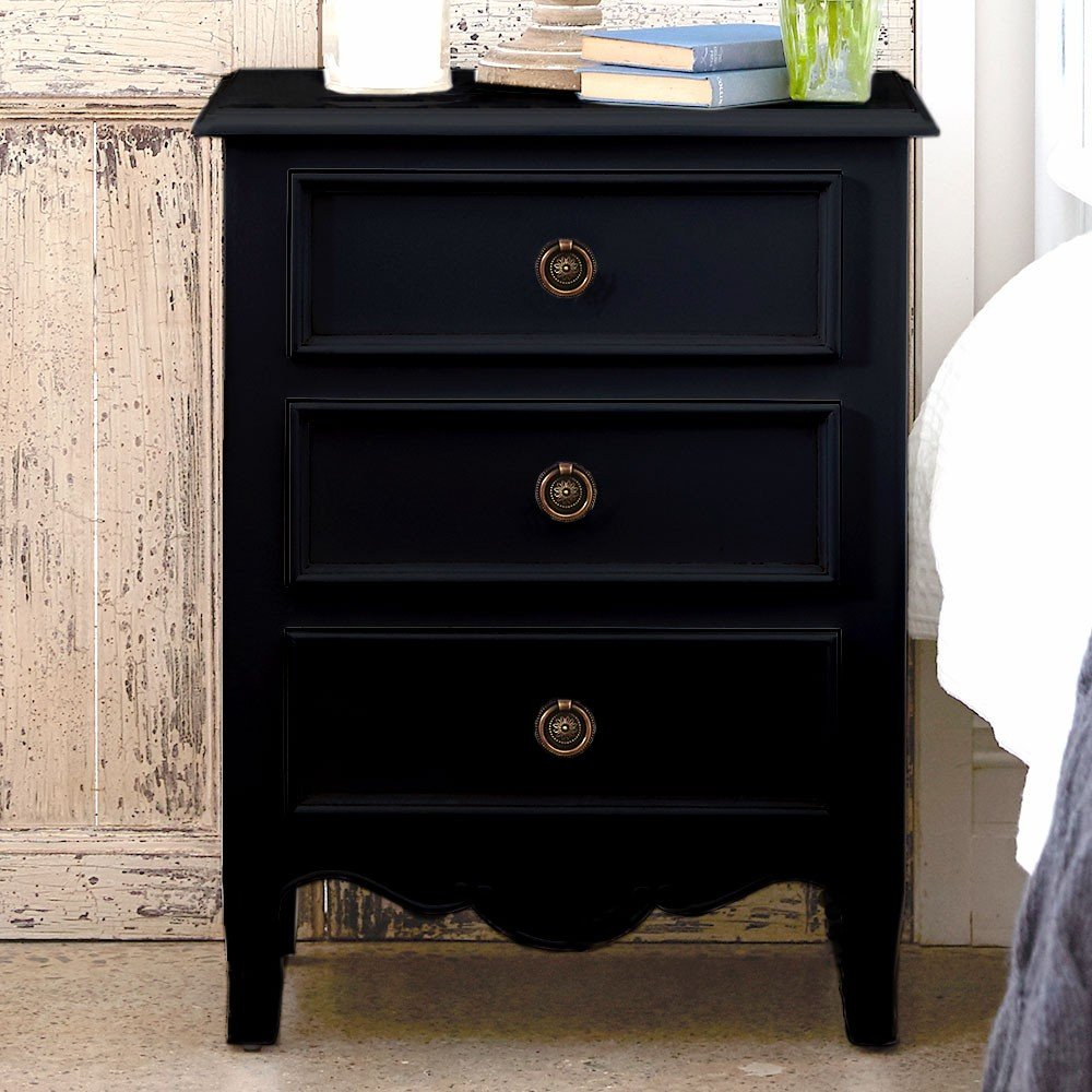 Modern Designer Marble Bedside Table Nightstand Black Mirrored End Table Ideas Decor