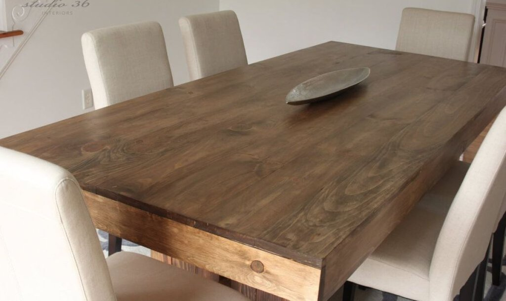 Modern Farmhouse Dining Table Dark Mineral West Elm Reclaimed Wood Round Dining Table