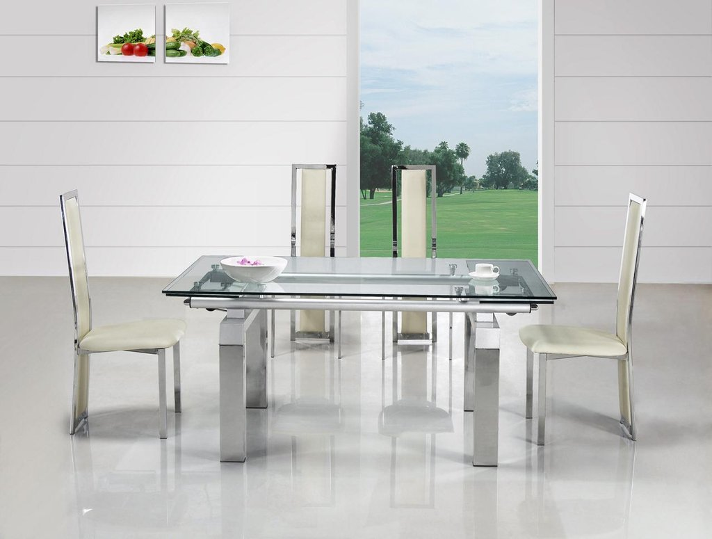 Modern Impression Extendable Glass Dining Table Home Extendable Dining Table Ideas