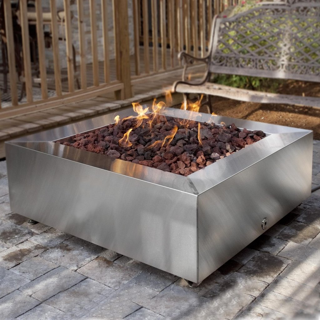 Modern Propane Fire Pit   Design Idea Making Fire Pit Coffee Table
