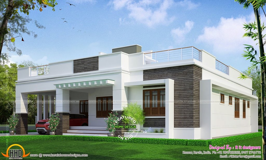 Modern Single Floor Kerala Villa House Plan 28123 House Classic Round Extendable Dining Table
