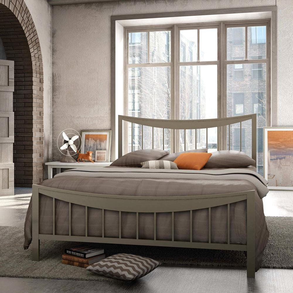 Modern Steel Bed Metal Wood Table Image Wood King Size Bed Frame With Headboard