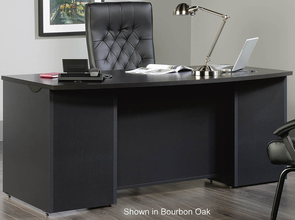 Modular Office Desk Collection 72 Quot Bow Front Desk Shell Reclaimed Wood Office Desk