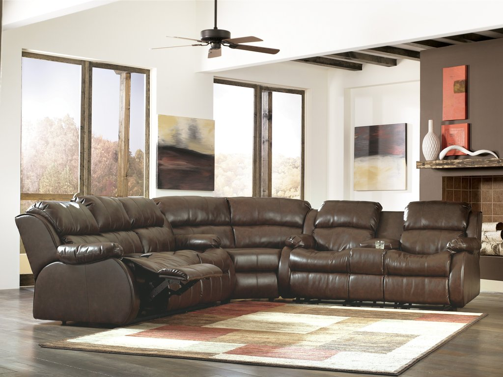 Mollifield Durablend Cafe 3 Pc Reclining Sectional How Make Rolling File Cabinet