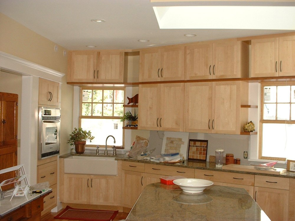 Natural Color Kitchen Cabinet Image Rustic Maple Kitchen Cabinets