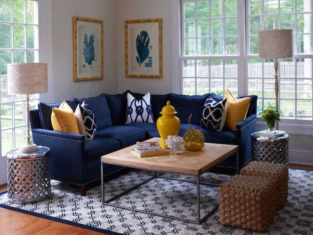 Navy Blue Sectional Sofa Navy Blue Sofa Decorating Idea Blue Velvet Couch