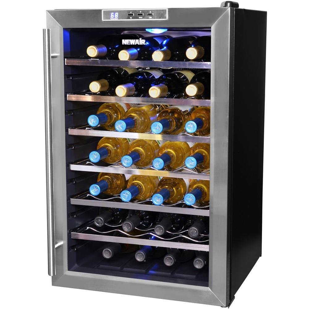 Newair 28 Bottle Thermoelectric Wine Cooler Aw 281e How To Installing Wine Cooler Cabinet