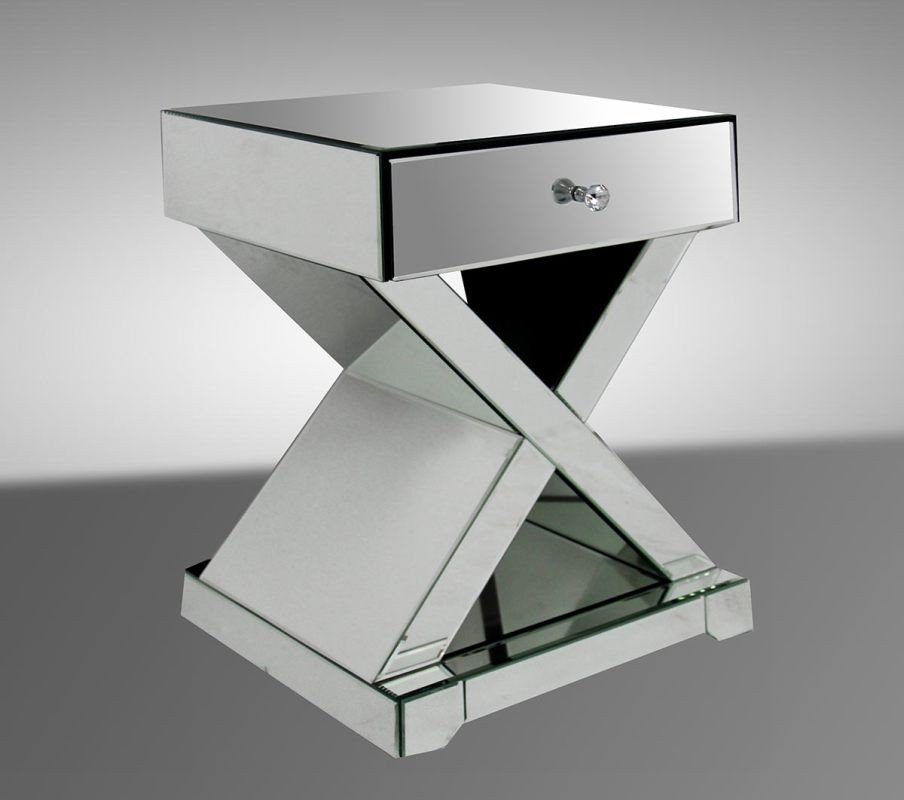 Night Stand Contemporary Affordable Mirrored Nightstand Create Dressing Table With Mirrored Dresser