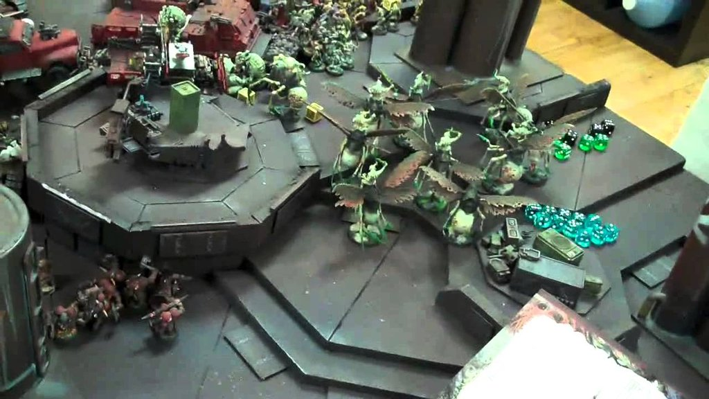 Nurgle Daemon Ork 05 Warhammer 40k Battle Report Painted The Wicker End Tables
