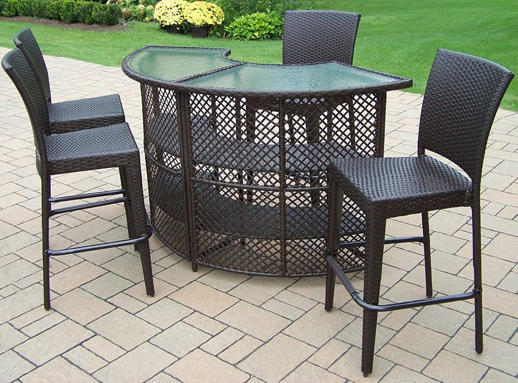 Oakland Living Elite Resin Wicker Piece Set Painted The Wicker End Tables