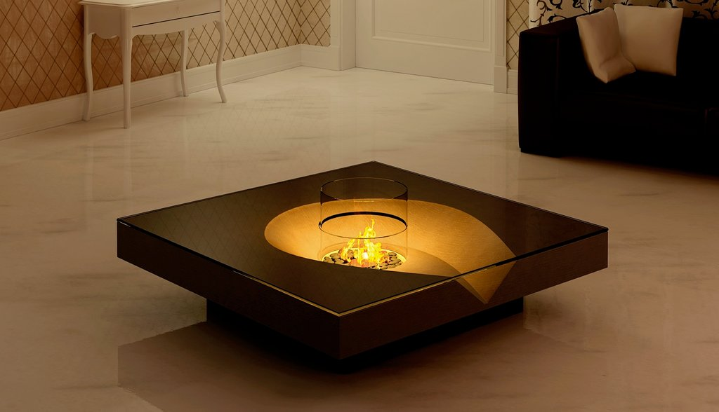 Open Air Inspired Fireplace Making Fire Pit Coffee Table