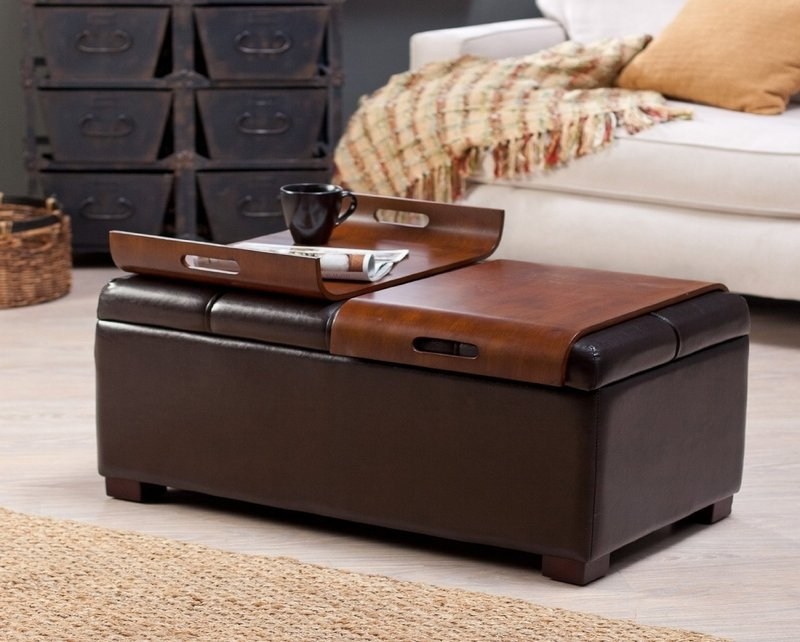 Ottoman Coffee Tables Gray Leather Ottoman Coffee Square Leather Ottoman Coffee Table