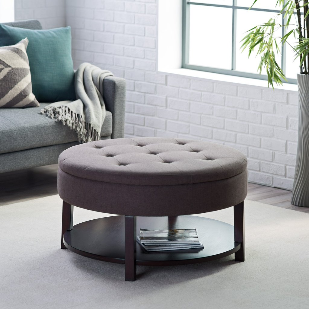 Ottoman Coffee Table Roselawnlutheran How To Make Round Ottoman Coffee Table