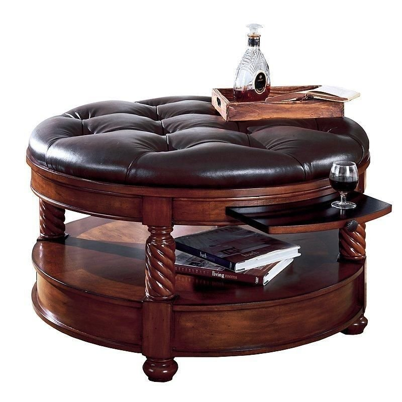 Ottoman Coffee Table Storage Coffee Cocktail Square Leather Ottoman Coffee Table