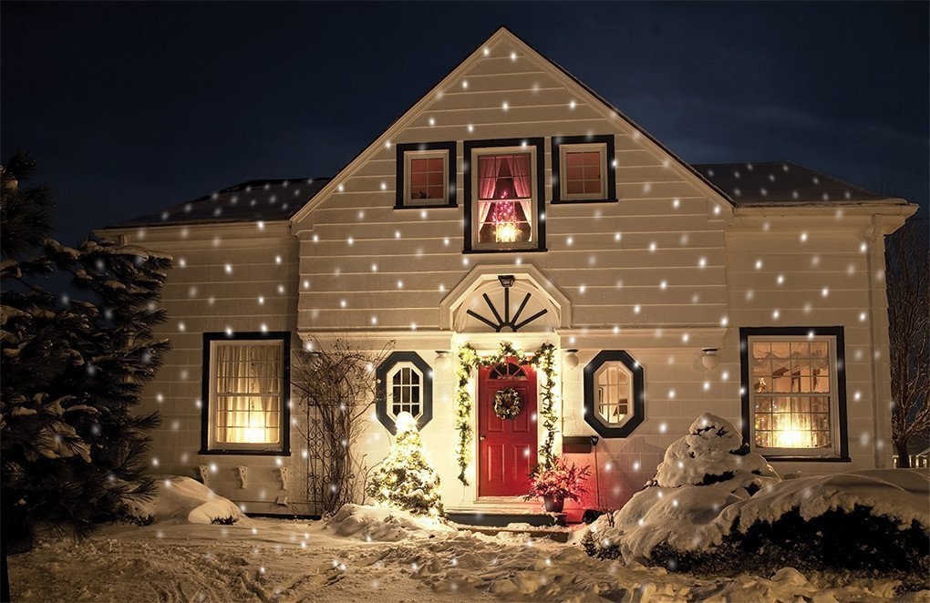 Outdoor Christma Laser Light Snowflake Christmas Light Ideas, Gorgeous Christmas Lighting Collections