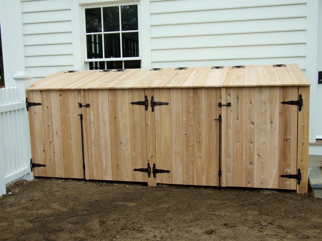 Outdoor Garbage Enclosure Plan Diy Woodworking Decorating Square Picnic Table