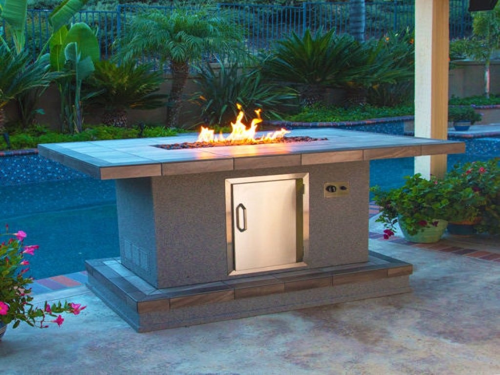 Outdoor Gas Fire Tables Bar Height Fire Pit Table Tall Making Fire Pit Coffee Table
