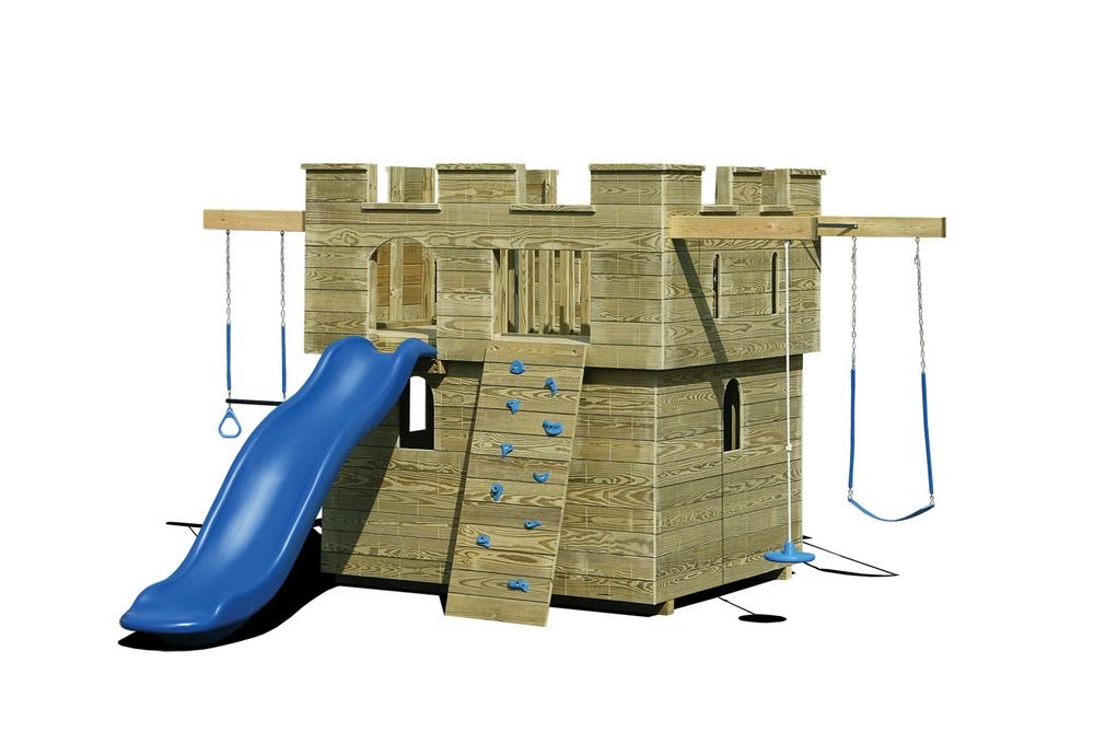 Outdoor Playhouse Slide Plan Outdoor Design Outdoor Wooden Playhouse With Slide