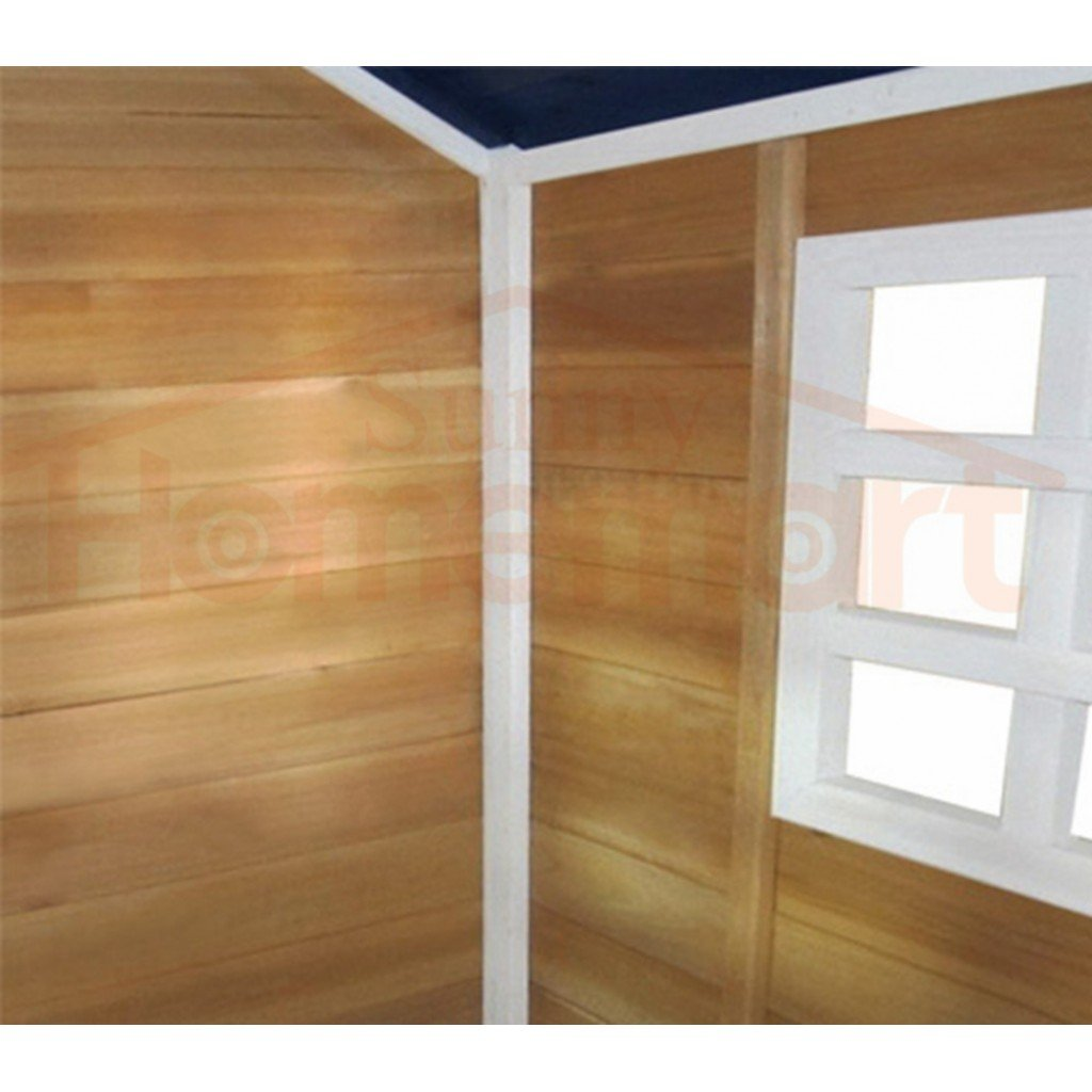 Outdoor Playhouse Wooden Cubby House Window Verandah Outdoor Wooden Playhouse With Slide